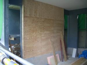 壁構造用合板補強