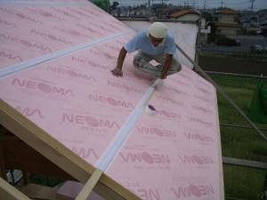 屋根断熱施工