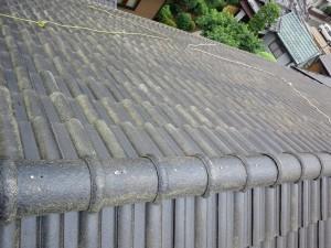 屋根下地塗り施工