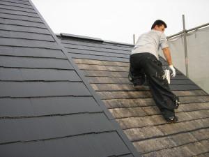 屋根の一度塗り
