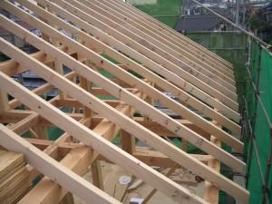屋根垂木工事